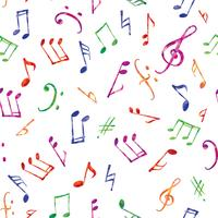 Modello musicale Note e segni di musica senza cuciture