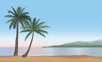 Sfondo vacanze estive. Vista al mare. Stabilimento balneare vettore