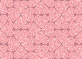 Linea arte lve cuori senza cuciture. Ornamento di festa del giorno di San Valentino