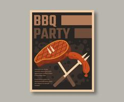 Retro Poster per barbecue