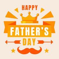 Felice festa del papà vettoriale