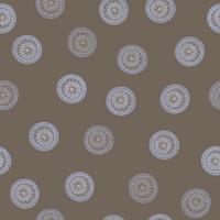 Motivo geometrico astratto. Fondo etnico orientale del cerchio floreale. vettore