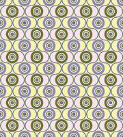 Motivo geometrico astratto. Ornamento di cerchio Ornamento di piastrelle a pois vettore