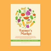 Modello di volantino del mercato degli agricoltori