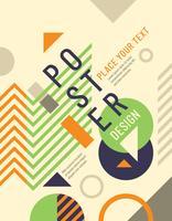 Design del manifesto geometrico vettore