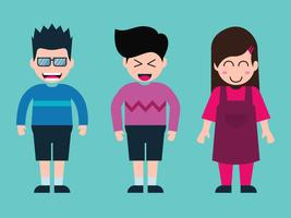 Set di caratteri del fumetto di bambini
