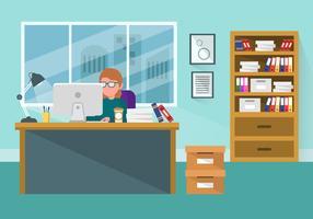 Clipart ufficio vettore