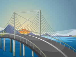 Un lungo ponte vettore