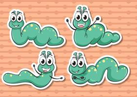 Set di vermi vettore