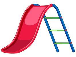 Attrezzature per parchi giochi con scivolo rosso vettore