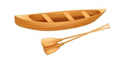 Canoa su bianco vettore