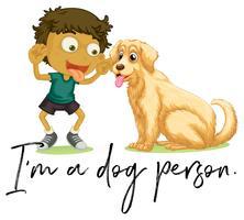Ragazzo e cane vettore