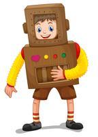 Ragazzino in costume robot