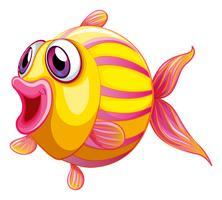 Un pesce imbronciato colorato vettore