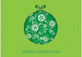 Carta da parati di Natale verde vettoriale