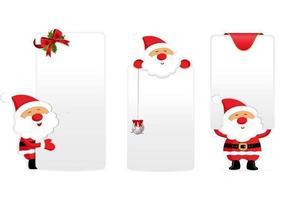 Pacchetto di etichette di tag e etichette di Babbo Natale vettore