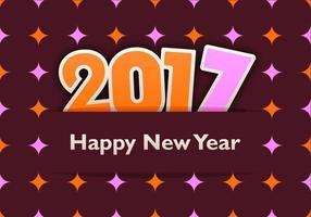 Carta da parati di vettore Funky 2017 di nuovo anno