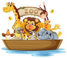 Una barca piena di animali