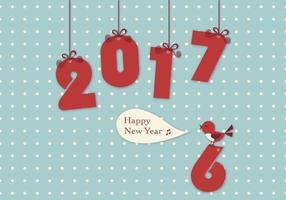 Carta da parati di vettore dell'uccello di 2017 nuovi anni