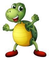 Una tartaruga giocosa vettore
