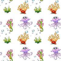 Un design senza cuciture che mostra le creature sotto il mare