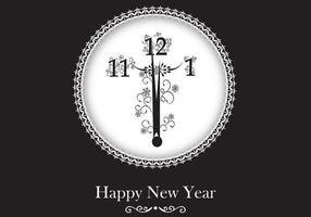 Carta da parati di vettore dell'orologio del nuovo anno