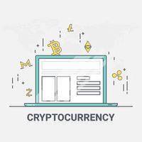 Fondo digitale della tecnologia di rete del blockchain dei criptovalute del denaro. illustrazione vettoriale.