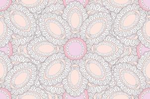 Modello etnico floreale astratto. Ornamento floreale geometrico