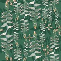 Modello etnico floreale astratto. Ornamento floreale geometrico vettore