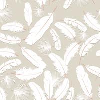 Motivo a piume. Piume bianche su sfondo grigio. texture seamless cuscino naturale. vettore