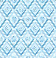 Floral pattern Flourish piastrellato sfondo. Ornamento linea diamante vettore