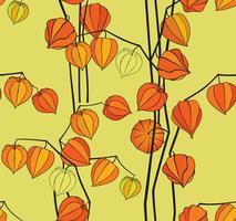 Astratto motivo floreale senza soluzione di continuità. Fondale di ciliegie invernali vettore