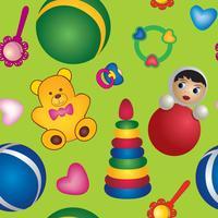 modello senza cuciture del giocattolo. modello bambino. sfondo astratto giocattolo del bambino. vettore