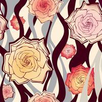 Motivo floreale senza soluzione di continuità. Sfondo di fiori Trama ornamentale vettore