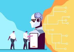 Intelligenza artificiale vettore