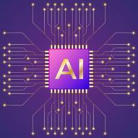 Intelligenza artificiale e apprendimento automatico vettore