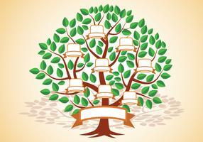 Modello di albero genealogico vettore