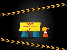 etichetta in costruzione vettore