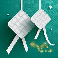 Carta grafica di ketupat (gnocco di riso). vettore
