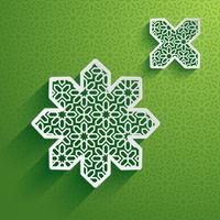 Carta grafica di elemento di design islamico