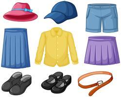 Abiti da indossare elementi vettore