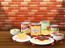 Set di pasta con salsa diversa