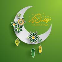 Carta grafica della mezzaluna islamica