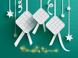 Carta grafica di ketupat (gnocco di riso).