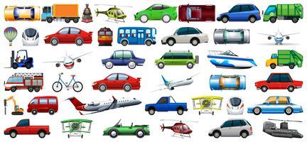 Set di veicoli di trasporto vettore
