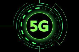 Connessione wifi Internet di nuova tecnologia Green 5G vettore
