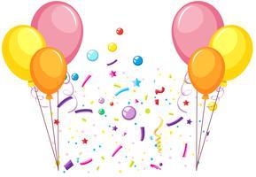 Festeggia festa con palloncini vettore