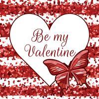 Biglietto di auguri di San Valentino. Illustrazione vettoriale