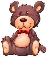 Simpatico orso su sfondo whtie