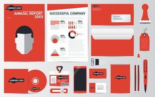 Collezione di articoli di cancelleria per la corporate identity